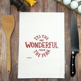 Green Bee KC Tea Towels - It's the Most Wonderful Time of the Year Tea Towel | Red Ink - The Pink Pigs, Fine Jewels and Gifts for People who Love Animals!