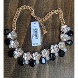 Guess Flower Inspired Black and White Necklace and Bracelet, SET or Pieces-The Pink Pigs, A Compassionate Boutique