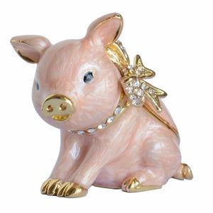 Handmade Sparkling Animal Trinket Boxes!  Dachshund, Owl, Pig or Hummingbird - The Pink Pigs, Fine Jewels and Gifts for People who Love Animals!