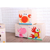 Heavyweight Foldable Canvas Animal Storage Box for Kids: Large with Lids-The Pink Pigs, A Compassionate Boutique