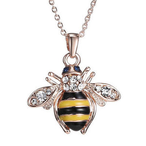 Honey Bee Necklace & Earrings with Austrian Elements Crystal - The Pink Pigs, Fine Jewels and Gifts for People who Love Animals!