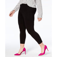 Hue Women's Plus Size Cotton Capri Leggings Black and White-The Pink Pigs, A Compassionate Boutique