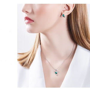 Hummingbird Jewelry Swarovski Crystal and Sterling Silver SET or Necklace, Earrings, Ring Gorgeous!