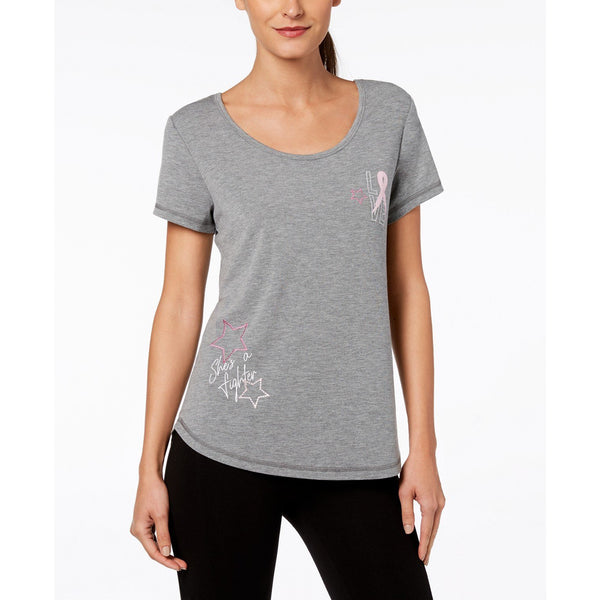 Ideology Athleisure Breast Cancer Support Tshirt XS Gray-The Pink Pigs, A Compassionate Boutique