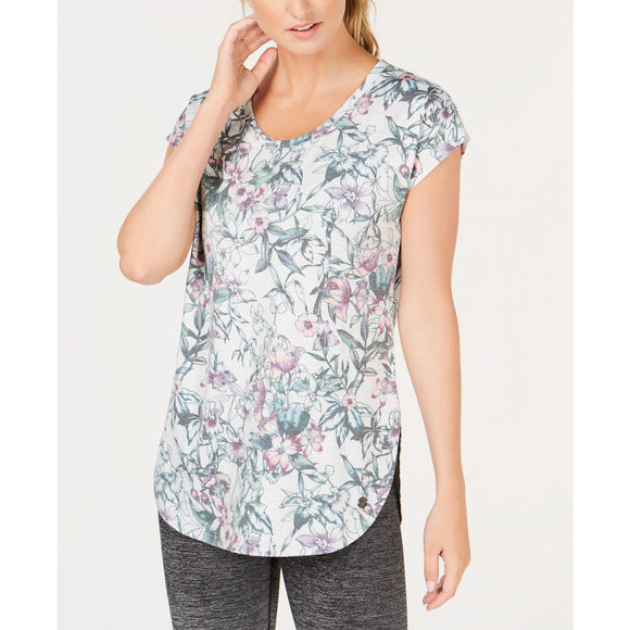 Ideology Athleisure Floral Top Short Sleeve Lrg-The Pink Pigs, A Compassionate Boutique