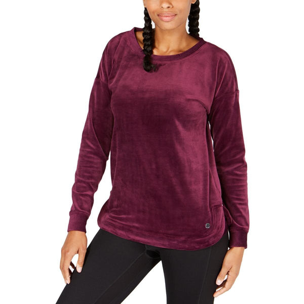 Ideology Womens Small Velour Long Sleeve Pullover Top-Ultra SOFT! SM-The Pink Pigs, A Compassionate Boutique