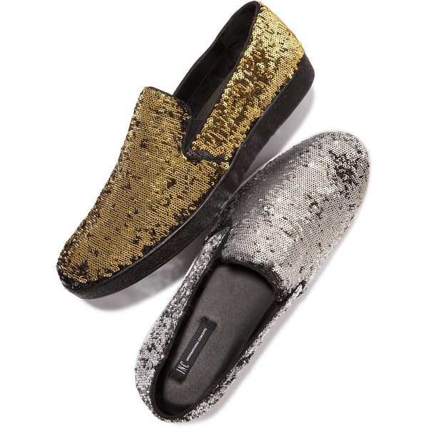 I.N.C. Men's Flash Sequin Slip-Ons 7.5M - VEGAN!-The Pink Pigs, A Compassionate Boutique