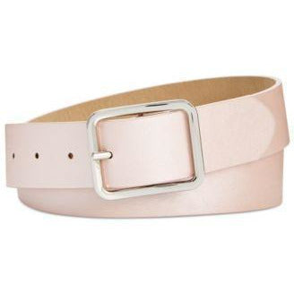 INC Pink Non-Leather Belts-Frosted Light Pink w/Silver Buckle-The Pink Pigs, A Compassionate Boutique