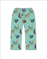 Jane Marie Flew the Coop Chicken Pajama Bottoms-Cutest Hens Ever