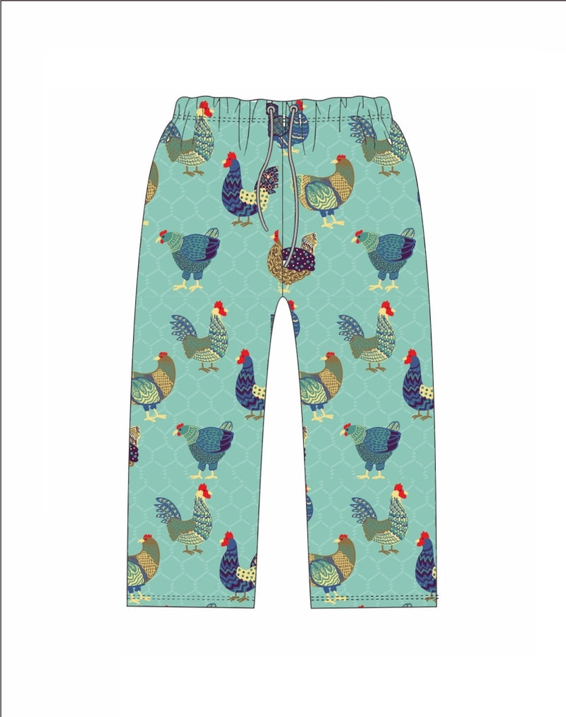 Chicken Pajama Bottoms, Mask, OR Tote for Women by Jane Marie Flew the Coop - The Pink Pigs, A Compassionate Boutique
