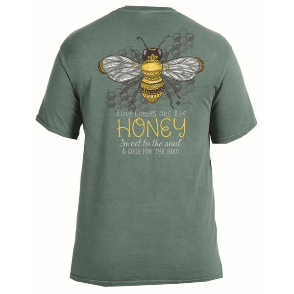 Kind Words are Like Honey Two Styles! Proverbs 16:24 Tee-The Pink Pigs, A Compassionate Boutique