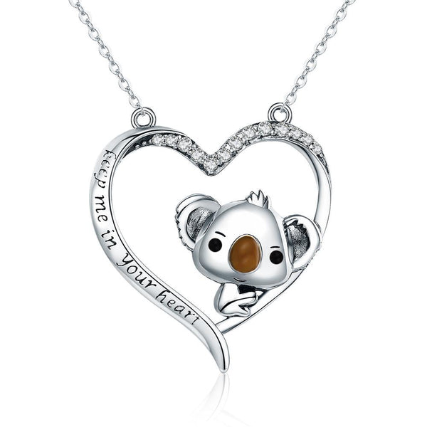 Koala Jewelry! Necklace, Rings, Charms and Earrings Beautiful Sterling Silver for Koala Bear Lovers!-The Pink Pigs, A Compassionate Boutique