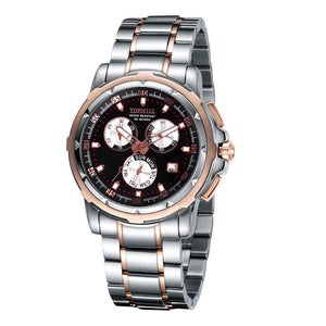 Luxury Men's Chronograph Watch-Stainless Steel, 10ATM Waterproof - The Pink Pigs, Fine Jewels and Gifts for People who Love Animals!