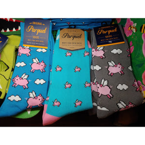 Men's Crew Socks-Pigs, Police, Camo, CUTE! - The Pink Pigs, Fine Jewels and Gifts for People who Love Animals!