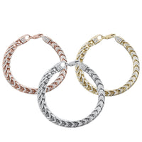 "Men's Franco Cubic Zirconia Sterling Silver Bracelet 8.5"" 3 Colors Available!-The Pink Pigs, A Compassionate Boutique"