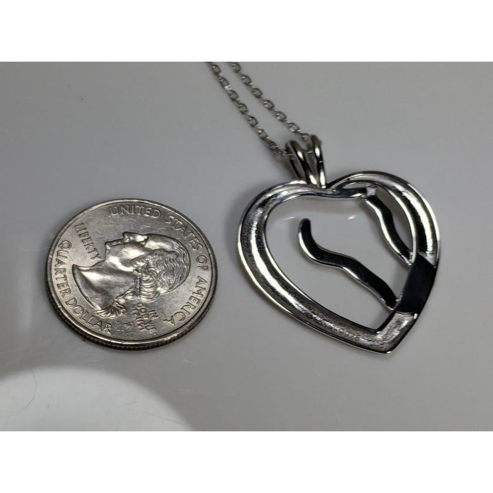 Mens Horse necklace Sterling Silver, Big and Beautiful!