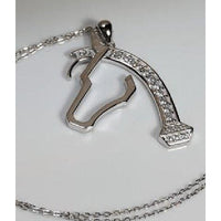 Mens Horse necklace Sterling Silver, Big and Beautiful!-The Pink Pigs, A Compassionate Boutique