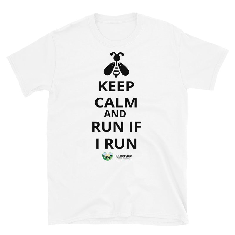 Keep Calm and Run If I Run - T-Shirt - The Pink Pigs, A Compassionate Boutique