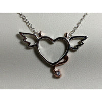 Naughty or Nice Heart Necklace, Perfect gift for a lady you love!-The Pink Pigs, A Compassionate Boutique