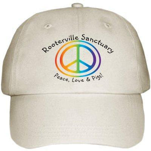 Peace, Love & Pigs Rooterville Hat in Khaki