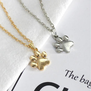 Pet Paw Necklaces Silver or Gold Tone, Affordable Fashion Jewelry