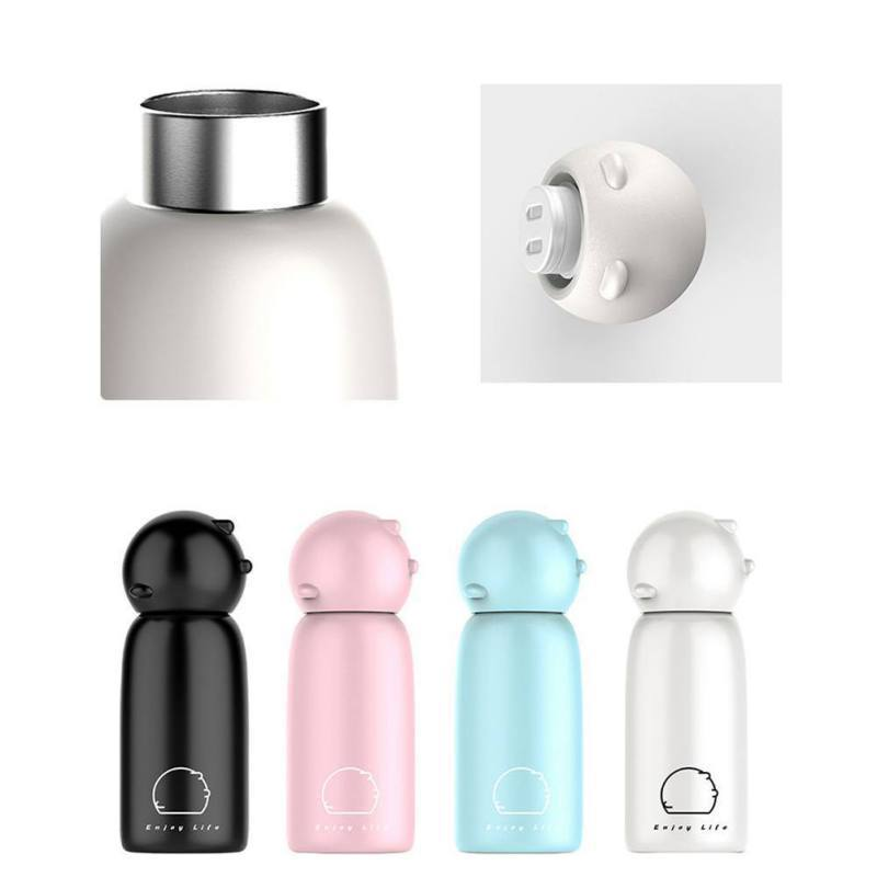 Pig Water Bottle- Stainless Steel Cuteness! Piggy comes in 4 colors now! Yay! - The Pink Pigs, A Compassionate Boutique