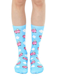 When Pigs Fly Unisex Crew Sock Lightweight