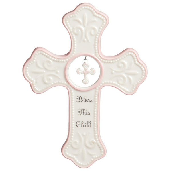 Pink Hanging Cross Frame by Tender Blessings-The Pink Pigs, A Compassionate Boutique