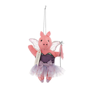 Priscilla the Pig Sugarplum Fairy Ornament