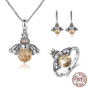 Queen Bee Jewelry for the Bee Lovers, Solid 925 Sterling Silver, Beautiful!  SET or individual pieces