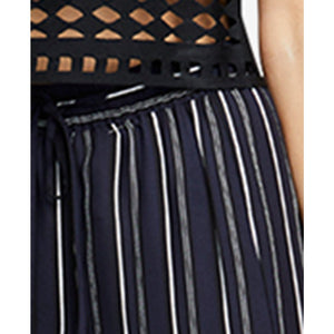 RACHEL Rachel Roy Striped Side Slit Wide Leg Pants Large, NWT-Beautiful, perfect for a cruise or night on the town!