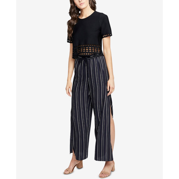 RACHEL Rachel Roy Striped Side Slit Wide Leg Pants Large, NWT-Beautiful, perfect for a cruise or night on the town!-The Pink Pigs, A Compassionate Boutique