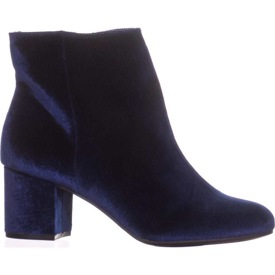 Rebel by Zigi Womens Nanon Closed Toe Ankle Fashion Boots Navy Size 5 Vegan