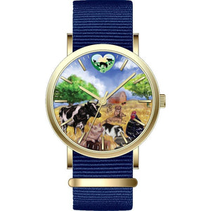 Rooterville Farm Animal and Logo Fine Watches-Originals!  Farm Animal Watch Pig watch Fundraiser