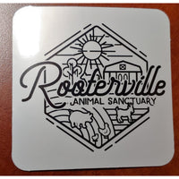 Rooterville Retro Cool Sticker! Share your love for the BEST sanctuary in the world with the world!-The Pink Pigs, A Compassionate Boutique