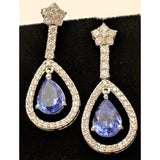 Ruby or Tanzanite & Diamond Earrings, 14K Gold!  12ctw of Rubies & Diamonds or 8ctw Tanzanite & Diamonds in 14K Gold