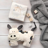 SOFT Plush Activity Cow Rattle for Babies, SO CUTE!-The Pink Pigs, A Compassionate Boutique