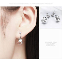 Spider and Pearl Earrings and Ring in Sterling Silver, Adorable!-The Pink Pigs, A Compassionate Boutique