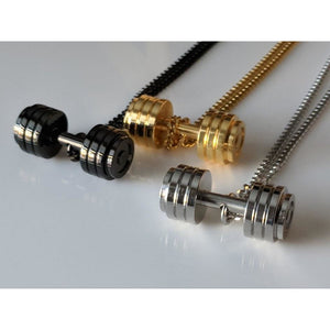 Stainless Steel Barbell Necklace for the Weightlifters