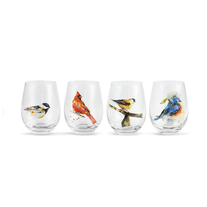 Stemless Wine Glasses-Glorious Nature and Horse Inspired Artwork - The Pink Pigs, A Compassionate Boutique
