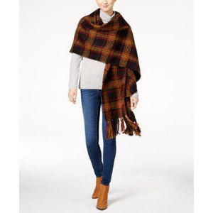 Steve Madden Wrap in Black/Red/Yellow/Plaid