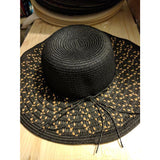 Sun Hats! All Day Floppy Hat Black/Natural ONE SIZE, Several Styles!-The Pink Pigs, A Compassionate Boutique