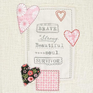 """Survivor"" Pillow and Plush Throw Blanket, Beautiful Gift for the Survivors in your Life"