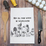 Made in the USA Kitchen Tea Towels: Pig, Bees, Fun with Wine, Wildflowers and more! - The Pink Pigs, Fine Jewels and Gifts for People who Love Animals!