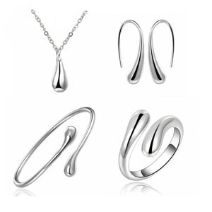 Teardrop Italian Sterling Silver Jewelry Set, Most Popular Jewelry Set Created