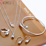 Teardrop Italian Sterling Silver Jewelry Set, Most Popular Jewelry Set Created-The Pink Pigs, A Compassionate Boutique