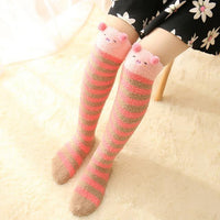 Thigh High Fuzzy Socks, Leggings Adorable Animals to Keep Legs Warm!-The Pink Pigs, A Compassionate Boutique