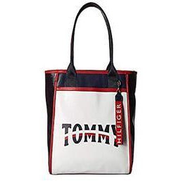 Tommy Hillfiger Ames Patchwork Tote, Classic with Faux Leather