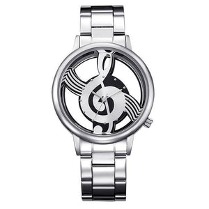 Music Lover's Watch, Unisex, Quality Stainless Steel Exhibition Case, Perfect Gift! - The Pink Pigs, Fine Jewels and Gifts for People who Love Animals!
