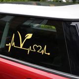 Vegan Lifeline Vinyl Car Bumper Stickers or Decal in Various Colors-Spread the message of compassion!-The Pink Pigs, A Compassionate Boutique